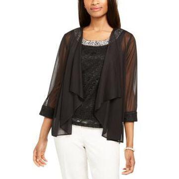 R & M Richards Glitter Lace Top & Jacket