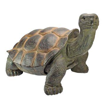 Design Toscano 18.5-in H x 29.5-in W Turtle Garden Statue