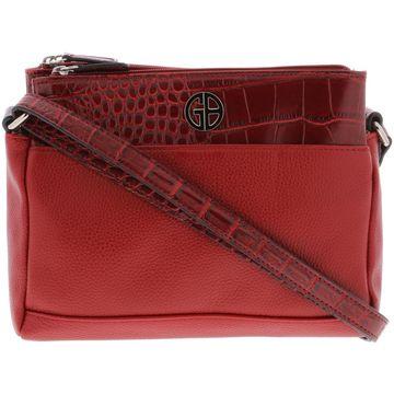 Giani Bernini Womens Leather Organizational Crossbody Handbag