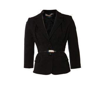 Elisabetta Franchi Black Polyester Jackets