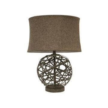 Decor Therapy Strapped Ball Lamp