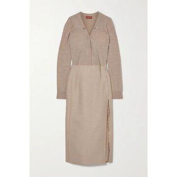 Altuzarra - Arlene Melange Wool-blend Midi Dress - Beige