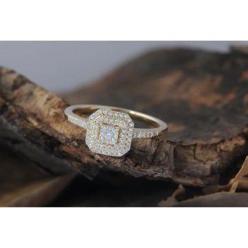 De Couer IGI Certified 1/4ct TDW Diamond Double Halo Engagement Ring - Yellow