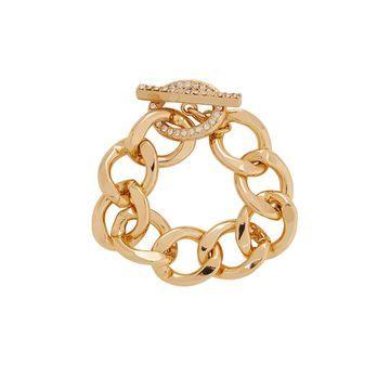 Crystal-embellished gold-tone chain bracelet