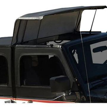 2008 Jeep Wrangler Rampage Trailview Soft Top in Black Diamond