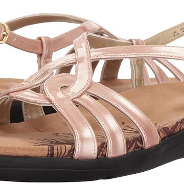 Soft Style Womens Patrese Fabric Open Toe Casual Strappy
