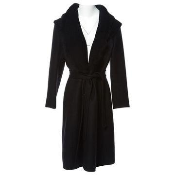 Ermanno Scervino Black Wool Coats