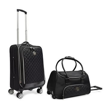Adrienne Vittadini Quilted Collection 2 Piece Luggage Set