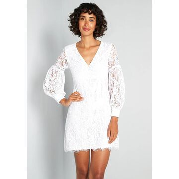 Little Mistress For Love and Lace Mini Dress in White, Size 10