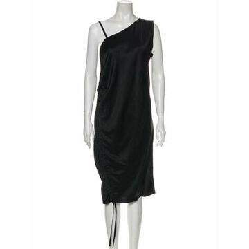 One-Shoulder Midi Length Dress Black