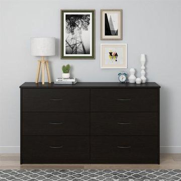 Mainstays 6 Drawer Dresser, Dark Russet Cherry
