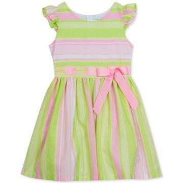 Big Girls Striped Linen Dress