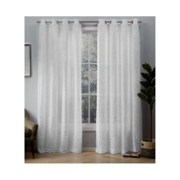 Exclusive Home Eyelash Grommet Top Curtain Panel Pair