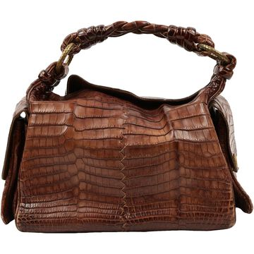 Bottega Veneta Brown Crocodile Handbags
