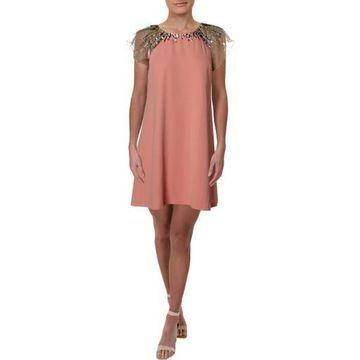 Aidan Mattox Womens Embellished Party Mini Dress