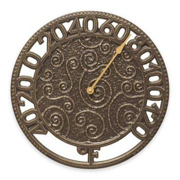 Whitehall Products Flourish Wall Clock in French Bronze