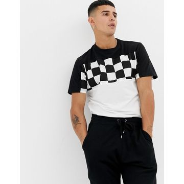 Another Influence Cut And Sew Checkerboard T-Shirt