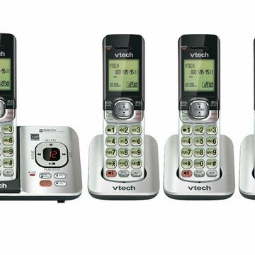 VTech CS6529-4 DECT 6.0 Phone Answering System 4 Cordless Handsets Silver/Black