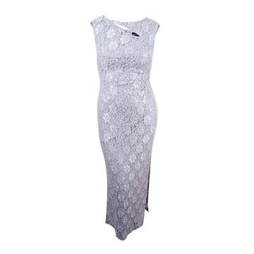Connected Women's Cutout Sequined Lace Gown