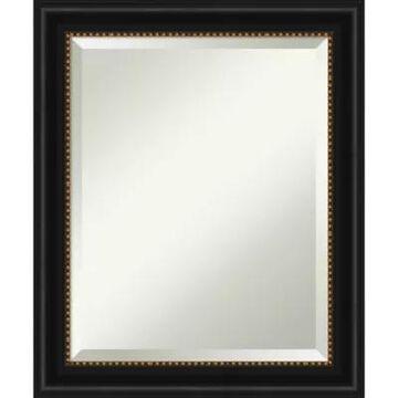 "Amanti Art 20"" X 24"" Manhattan Framed Wall Mirror In Black"