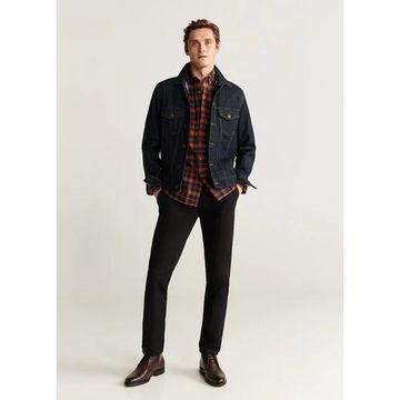 MANGO MAN - Regular fit checked flannel shirt red - XS - Men