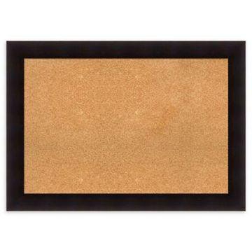 Amanti Art Cork Board with Frame in Portico Espresso