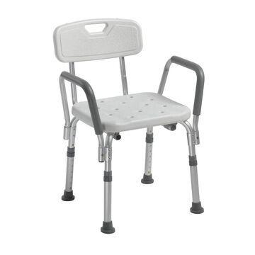 Drive Medical White Plastic Freestanding Shower Chair | 12445KD-1