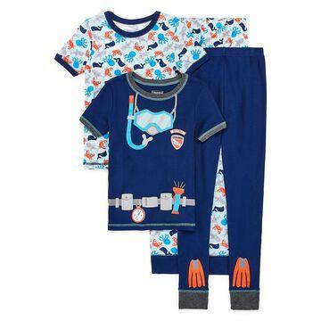 Rene Rofe Boys Club 4-pc. Pajama Set Preschool / Big Kid