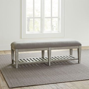 Liberty Heartland Antique White Wood Bed Bench
