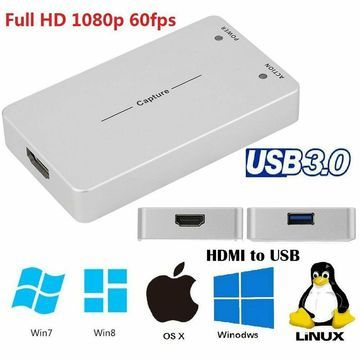 US HDMI Video Capture Card Box Adapter 1080P HD Game Recording For Linux Os MY