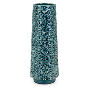 IMAX Home 25767 York 15 Inch Tall Handcrafted Ceramic Vase