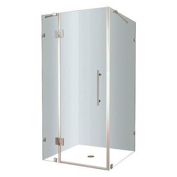 Aston Avalux Frameless Shower Enclosure, Stainless Steel, 38