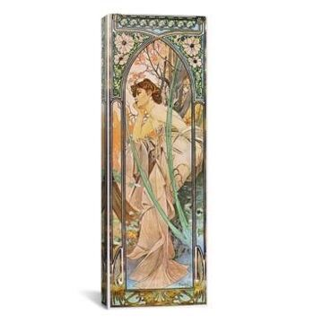 iCanvas Evening Reverie, 1899 by Alphonse Mucha Wrapped Canvas Print - 36