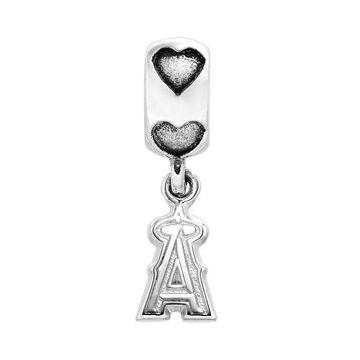 LogoArt Los Angeles Angels of Anaheim Sterling Silver Team Logo Charm, Women's, Grey