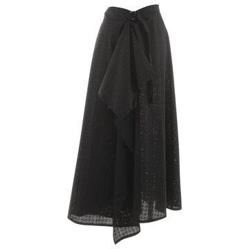 Yohji Yamamoto Navy Cotton Skirts