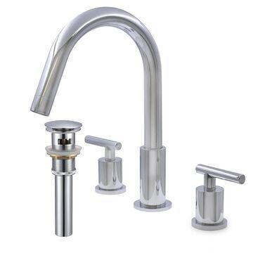 Novatto WALTZ 2-Handle Faucet, Chrome with Overflow Drain (Chrome)