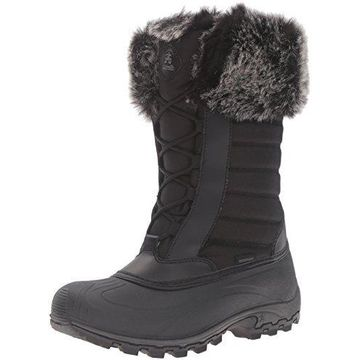 Kamik Women's Haley Snow Boot, Black, 9 M US