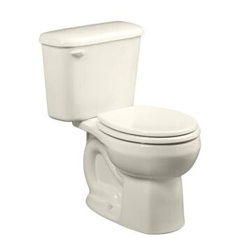 American Standard Colony Linen Round Standard Height 2-Piece Toilet 10-in Rough-In Size in White   221DB104.222