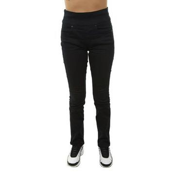 SPANX The Signature Straight High Rise Jeans, Very Black, 30