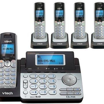 Vtech DS6151 Base + DS6101-4 Accessory Cordless Handsets Combo