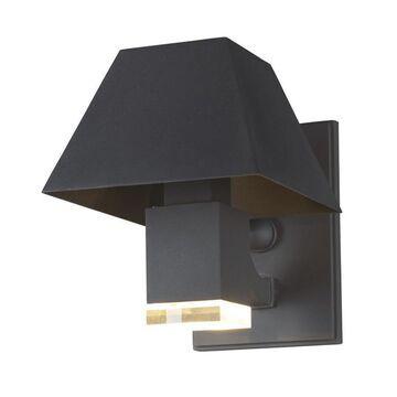 Maxim Lighting Pavilion 12.25-in H Black LED Outdoor Wall Light