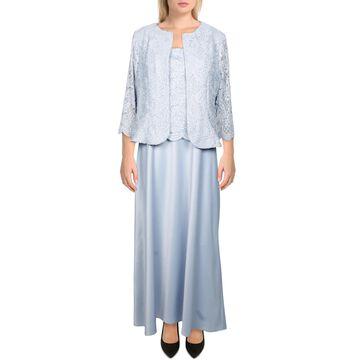 Alex Evenings Womens Petites Formal Dress 2PC Glitter - Hydrangea