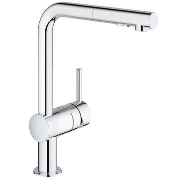 GROHE Minta Single-Handle StarLight Chrome Kitchen Faucet