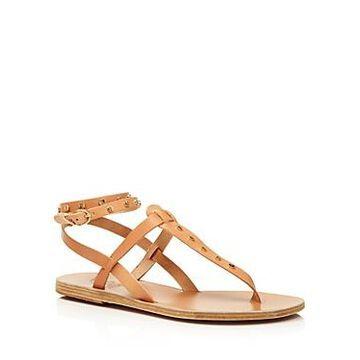 Ancient Greek Sandals Women's Estia Studded Leather Thong Sandals
