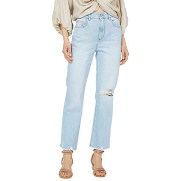 DL1961 Patti Straight in Baby Blue Distressed