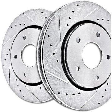 Power Stop JBR1576XPR Evolution Drilled & Slotted Rotors -Rear