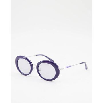 Calvin Klein Jeans round lens sunglasses in black