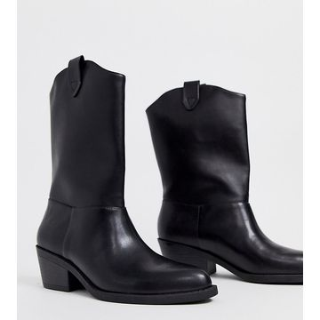 Monki Western style ankle boots in black
