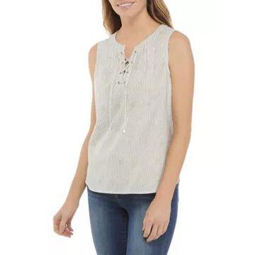 Rafaella Women's Sleeveless Lace Up Top -