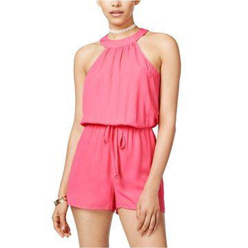 Be Bop Womens Textured Romper Jumpsuit